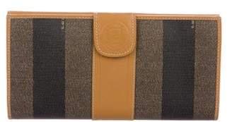 Fendi Vintage Pequin Wallet