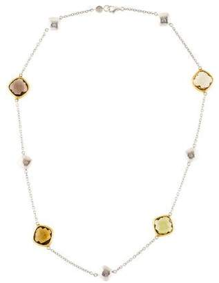 Gurhan Quartz Brandy Hue Station Necklace w/ Tags