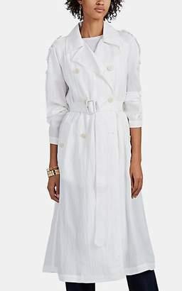 Helmut Lang Women's Tech-Poplin Trench Coat - White