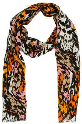 Diane von Furstenberg Mutlicolor Abstract Scarf $65 thestylecure.com