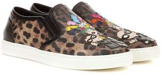 Dolce & Gabbana Leopard-printed slip-on sneakers