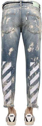 18cm Stripe Distressed Denim Jeans $697 thestylecure.com