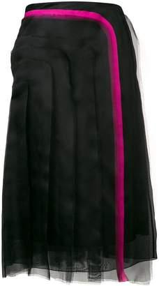 Lanvin ruffle trimmed skirt
