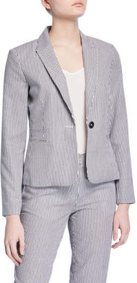 Tahari ASL Striped Double Welt Pocket Suit Jacket