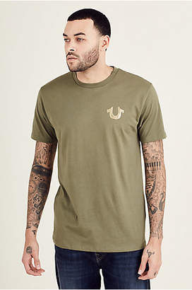 True Religion METALLIC GOLD BUDDHA PUFF MENS TEE