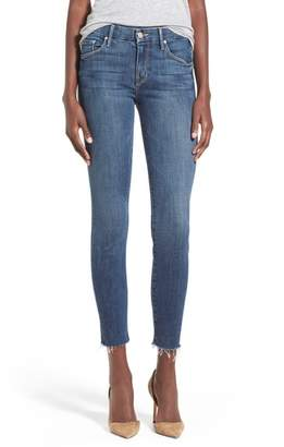 Mother 'The Looker' Frayed Ankle Jeans