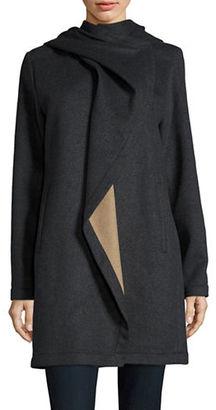 Vince Camuto Asymmetrical Drape Coat $420 thestylecure.com