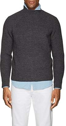 Eleventy Men's Virgin Wool Mock-Turtleneck Sweater