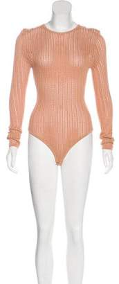 Ronny Kobo Knit Long Sleeve Bodysuit w/ Tags