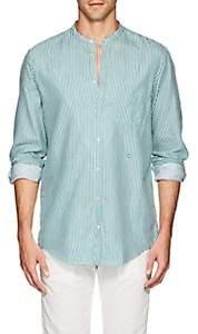 Massimo Alba Men's Striped Cotton Twill Shirt - Grn. Pat.
