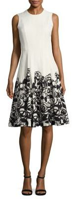 Carmen Marc Valvo Floral Party Dress $680 thestylecure.com