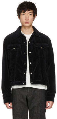 McQ Black Washed Chord Luca Jacket