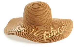 Women's Bp. Beach Please Sequin Floppy Straw Hat - Beige $25 thestylecure.com