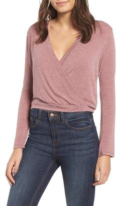 PST by Project Social T Surplice Crop Top