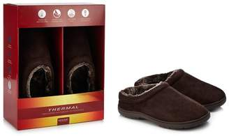 Maine New England - Chocolate Brown 'Thinsulate' Memory Foam Mule Slippers In A Gift Box In A Gift Box
