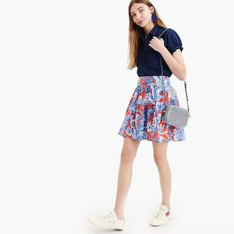 J.Crew Tiered mini skirt in Ratti® Rio floral
