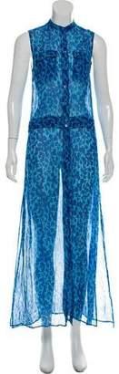 Equipment Silk Button-Up Dress