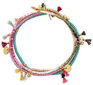 SHASHI Lilu Bracelet Set in Metallic Gold. $79 thestylecure.com