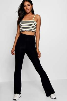 boohoo Womens Basic Skinny Flares - Black