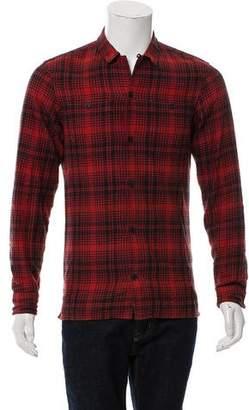 AllSaints Plaid Button-Up Shirt