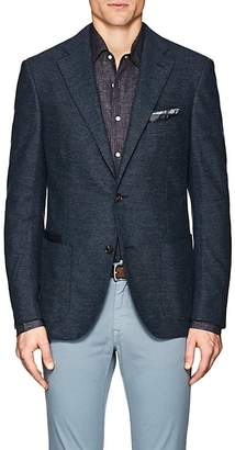 Luciano Barbera MEN'S COTTON PIQUÉ TWO-BUTTON SPORTCOAT
