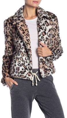 Bagatelle Faux Fur Leopard Jacket