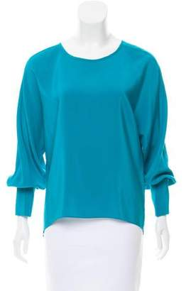 Amanda Uprichard Silk Long Sleeve Top