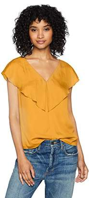 Ella Moon Women's Standard Flounce Shoulder Wrap Ruffle Top