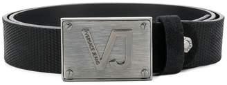Versace logo plate buckle belt