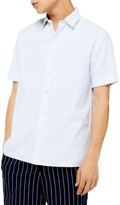 Topman Classic Fit Short Sleeve Sport Shirt