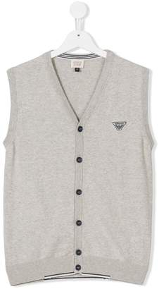 Armani Junior chest logo gilet