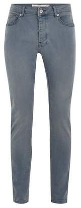 Topman Mens Grey Misty Gray Stretch Skinny Jeans