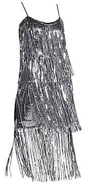 Dress the Population Women's Roxy Sequin Fringe Dress