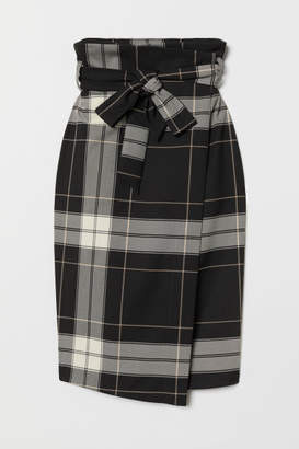 H&M Wrap Skirt with Tie Belt - Black