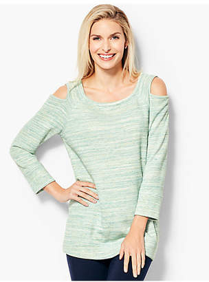 Talbots Space-Dyed Cold Shoulder Pullover