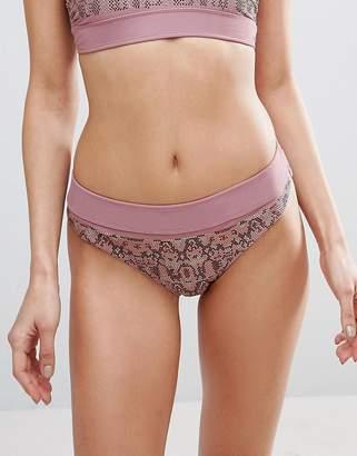 Asos Heatseal Ombre Embellished Hipster Bikini Bottom