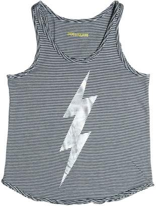 Zadig & Voltaire Lightning Bolt Cotton Jersey Tank Top