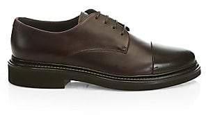 Giorgio Armani Men's Cap Toe Leather Derby Shoes