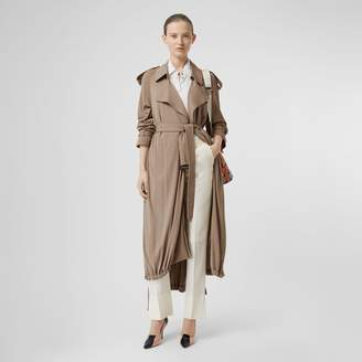 Burberry Jersey Wrap Coat