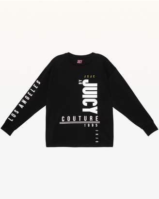 Juicy Couture JXJC Black Multi-Juicy Long Sleeve Tee