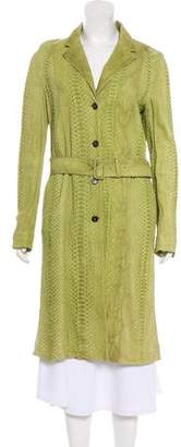 Prada Python Long Coat