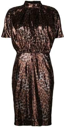 MSGM micro pleated sequin dress
