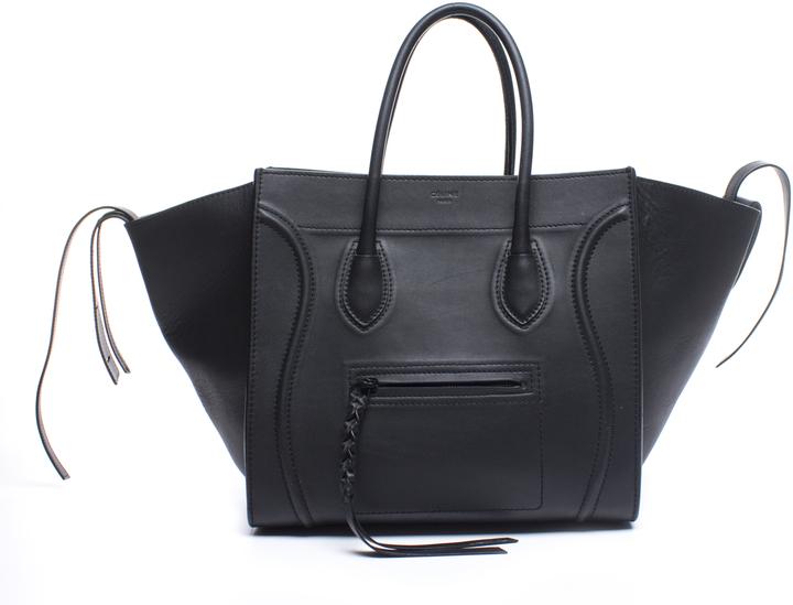 CelineCeline Black Calfskin Medium Phantom Bag