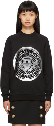 Balmain Black Coin Sweatshirt