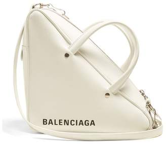 Balenciaga Triangle Duffle S Leather Bag - Womens - White