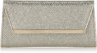 Jimmy Choo MARGOT Champagne Glitter Fabric Clutch Bag