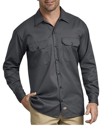 Dickies Big Men's Long Sleeve Twill Work Shirt