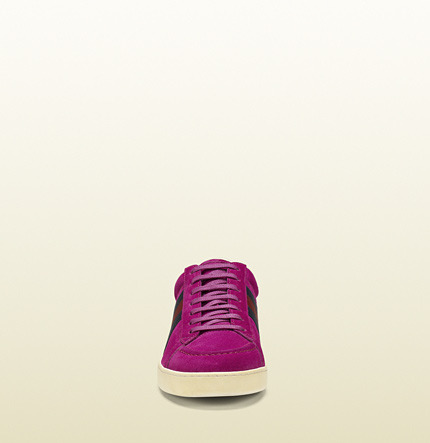 Gucci Suede Lace-Up Sneaker