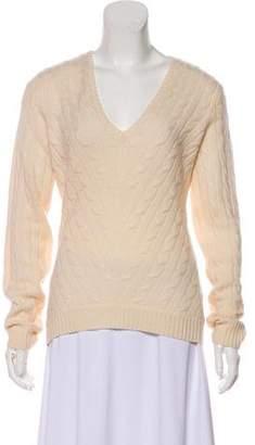 Ralph Lauren Black Label Cable Knit Cashmere Sweater