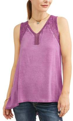 River and Vine Women's Flowy Peasant Tank Top